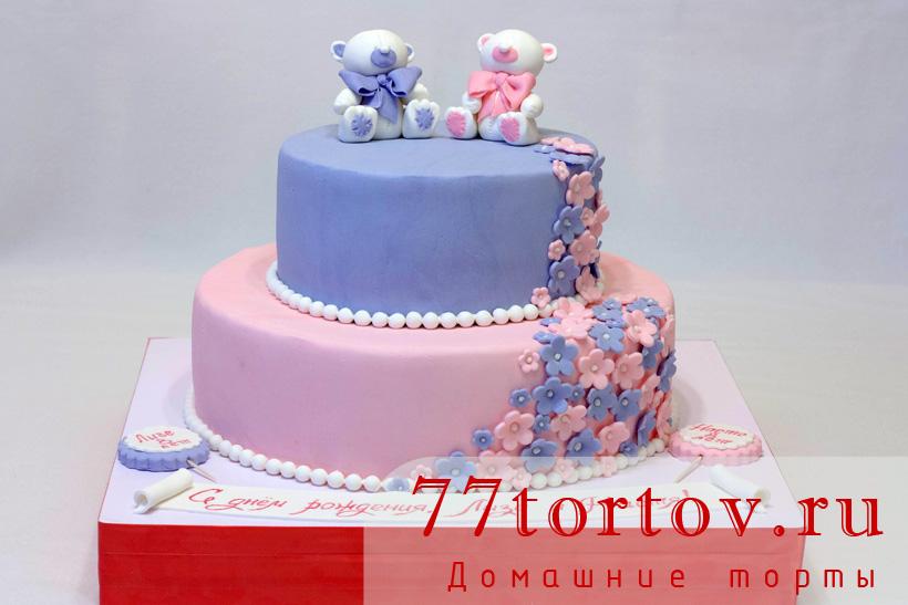 Торт с белыми мишками